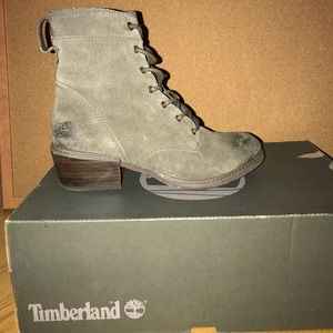 Sutherlin Bay Timberland Gray lace boots